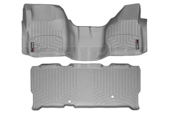 WeatherTech 462931-460023 Grey FloorLiner Set for 2008-2010 Ford 6.4L Powerstroke