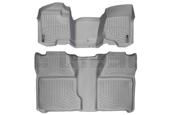 WeatherTech 462941-460660 Grey FloorLiner Set for 2007-2014 GM 6.6L Duramax LMM, LML