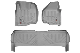 WeatherTech 46305-1-2 Grey FloorLiner Set for 2011-2012 Ford 6.7L Powerstroke