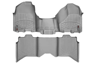 WeatherTech 463281-462163 Grey FloorLiner Set for 2010-2012 Dodge 6.7LCummins