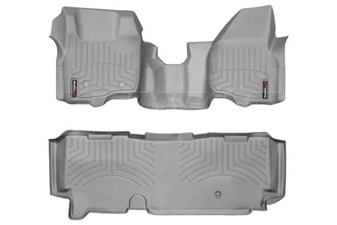WeatherTech 463291-463053 Grey FloorLiner Set for 2011-2012 Ford 6.7L Powerstroke
