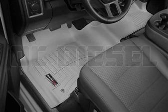 WeatherTech 464771 Grey Front FloorLiner for 2012-2017 Dodge 6.7L Cummins