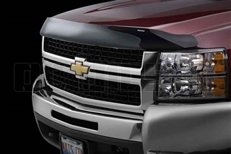 WeatherTech 50177 Dark Smoke Stone and Bug Deflectors for 2007-2010 GM 6.6L Duramax LMM