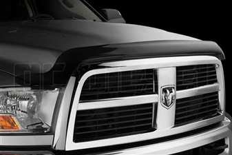 WeatherTech 50205 Dark Smoke Stone and Bug Deflectors for 2010-2017 Dodge 6.7L Cummins