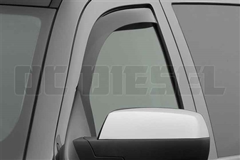 WeatherTech 80740 Front Pair Dark Side Window Deflectors for 2014-2017 GM 6.6L Duramax LML, LP5