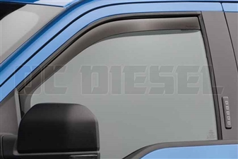 WeatherTech 80765 Front Pair Dark Side Window Deflectors for 2017 Ford 6.7L Powerstroke