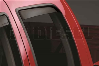 WeatherTech 81291 Rear Pair Dark Side Window Deflectors for 2003-2009 Dodge 5.9L, 6.7L Cummins