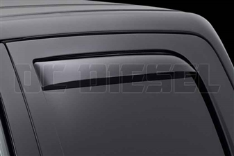 WeatherTech 81503 Rear Pair Dark Side Window Deflectors for 2010-2017 Dodge 6.7L Cummins