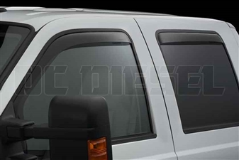 WeatherTech 82138 Dark Side Window Deflectors Set for 1999-2016 Ford 7.3L, 6.0L, 6.4L, 6.7L Powerstroke
