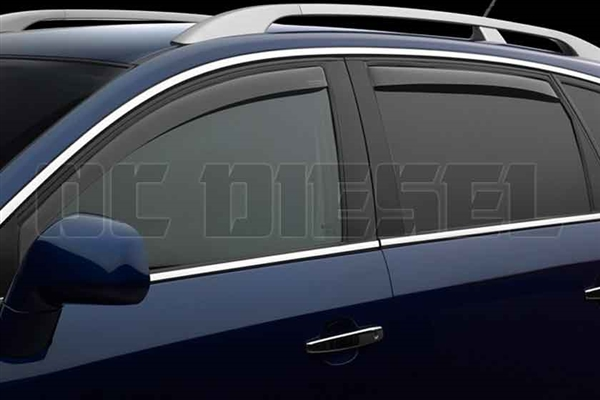WeatherTech 82184 Dark Side Window Deflectors Set for 2001-2007 GM 6.6L Duramax LB7, LLY, LBZ