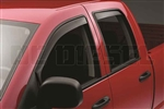 WeatherTech 82291 Dark Side Window Deflectors Set for 2003-2009 Dodge 5.9L, 6.7L Cummins