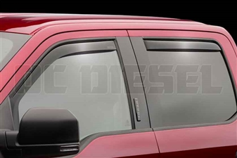 WeatherTech 82765 Dark Side Window Deflectors Set for 2017 Ford 6.7L Powerstroke