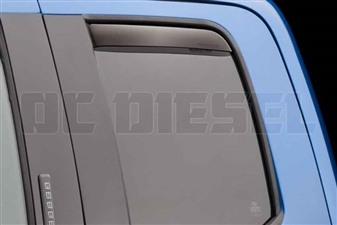 WeatherTech 83765 Rear Pair Dark Side Window Deflectors for 2017 Ford 6.7L Powerstroke