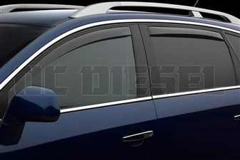 WeatherTech 84291 Dark Side Window Deflectors Set for 2006-2009 Dodge 5.9L, 6.7L Cummins