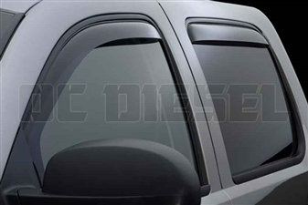 WeatherTech 84426 Dark Side Window Deflectors Set for 2007-2014 GM 6.6L Duramax LMM, LML