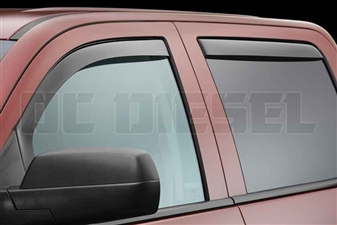 WeatherTech 84740 Dark Side Window Deflectors Set for 2014-2017 GM 6.6L Duramax LML, LP5