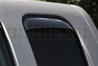 WeatherTech 85426 Rear Pair Dark Side Window Deflectors for 2007-2013 GM 6.6L Duramax LMM, LML