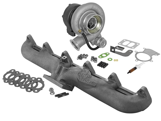 aFe Power 46-60060-MB BladeRunner Street Series Turbocharger with Exhaust Manifold for 1998.5-2002 Dodge 5.9L Cummins