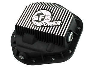 aFe Power 46-70082 Pro Series Front Differential Cover Machined Fins for 1999-2016 Ford 7.3L, 6.0L, 6.4L, 6.7L Powerstroke