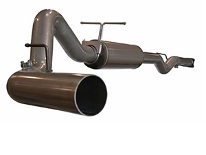 "aFe Power 49-14001 Large Bore-HD 4"" 409 Stainless Steel Cat-Back Exhaust System for 2001-2005 GM 6.6L Duramax LB7, LLY"