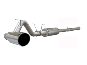 "aFe Power 49-42002 Large Bore-HD 4"" 409 Stainless Steel Cat-Back Exhaust System for 2004.5-2007 Dodge 5.9L Cummins"