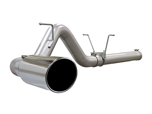 "aFe Power 49-42006 Large Bore-HD 4"" 409 Stainless Steel DPF-Back Exhaust System for 2007.5-2012 Dodge 6.7L Cummins"