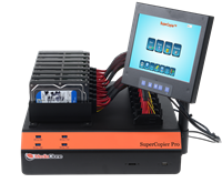 supercopier desktop duplicator - multiple channel hard drive duplication, cloning, imaging, erase, and format unit with extreme speed, and with multiple session operations