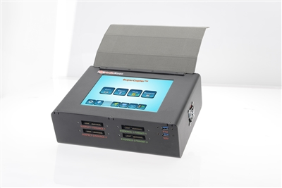 "SuperCopier 8"" SAS -  Touchscreen color LCD display, 4 SAS ports and 8 USB3.0 ports hard drive duplicator, TB 3.0/ USB3.1"