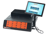 "SuperCopier Multi USB flash drive copier unit with 20 USB3.0 ports and 10""  Touchscreen LCD color display."