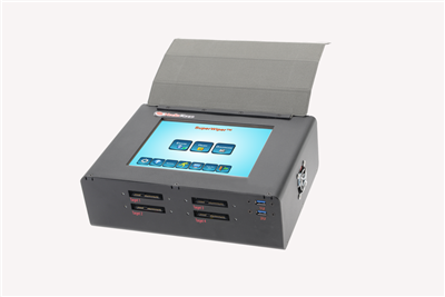 "SuperWiper 8"" T3 SAS/SATA portable erase unit with 8""  Touchscreen LCD color display and SAS, SATA-3 and USB3.1 ports and ability to add on NVMe"