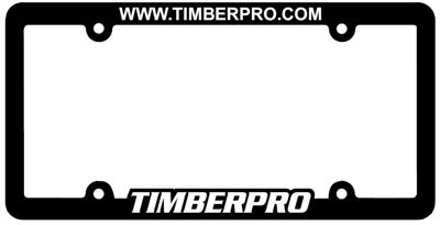 TimberPro License Plate Frame