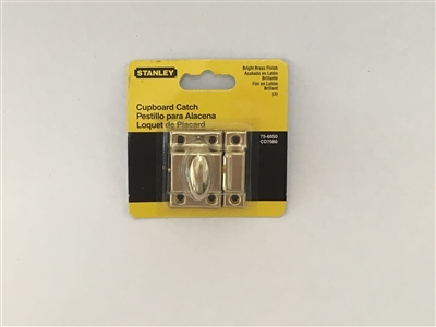 Stanley Hardware 756050 Bright Brass Cupboard Catch