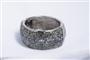 212802-900 Grey & Black Crystal Bangle