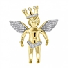 58154 Gold - Silver Angel Pendant