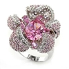 80316 Pink Floral Cocktail Ring
