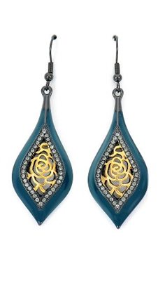 E9481 Blue Drop & Dangle Earrings