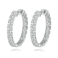 EE164S LUXURY HOOP EARRINGS