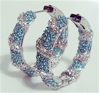 EE5005-BL HOOP EARRINGS