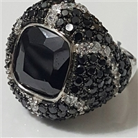 EEJ20BK Bold Black & White Ring