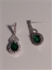 EMER05  GREEN CZ EARRINGS