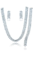 F5412944 Silver Necklace Set