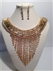 GBLING GOLD MULTI STRAND NECKLACE SET