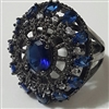 Ring, Cocktail, Blue, Elegant, classy, Regal, Bold,