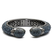 LO1796 Blue Crystal Bangle