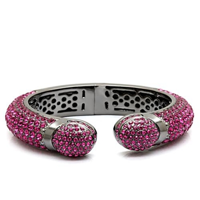 LO1800 Pink Crystal Bangle