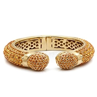 LO1801 Yellow Crystal Bangle
