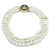 LO2644 White Multi Pearl Necklace