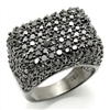 LOS150 Black CZ Ring
