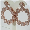 RH102030  ROSE BEZEL EARRINGS