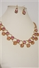 SN1428EME Pink Necklace